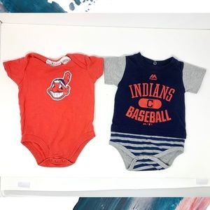 MLB Cleveland Indians Baby 6-9 Mo One Pieces